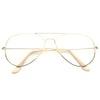 Classic 56mm Sun Sensor Clear Aviator Glasses