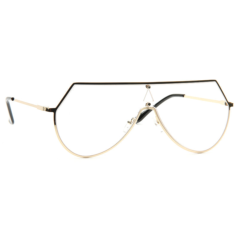 Eyeline Designer Inspired Angled Flat Top Clear Glasses