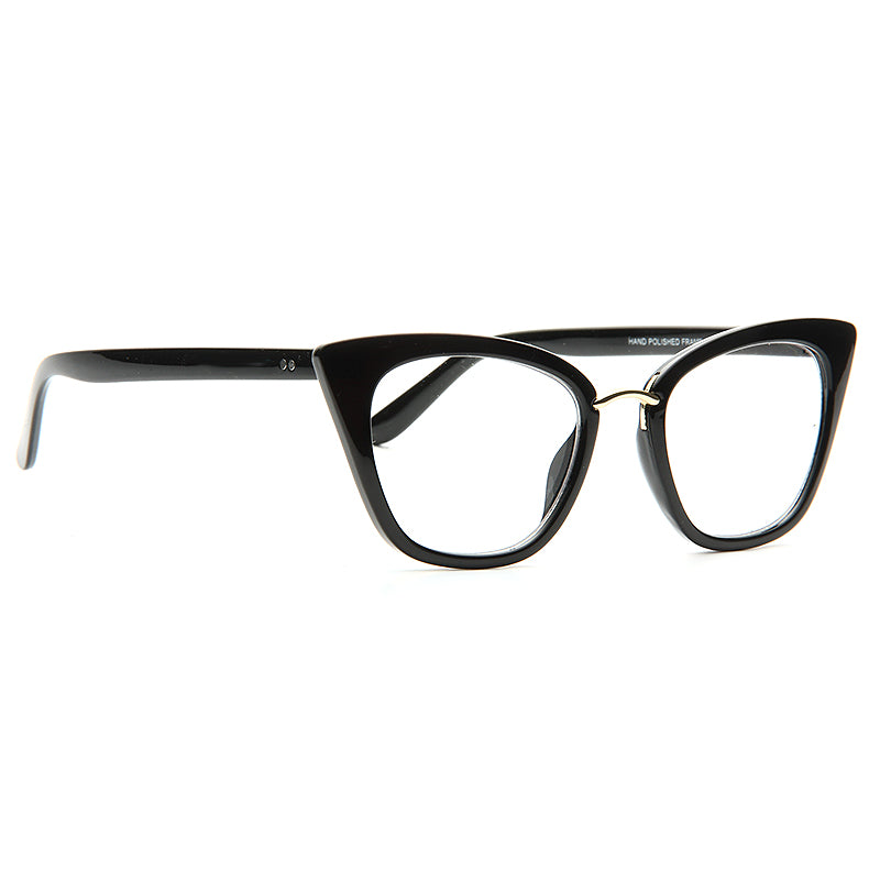 Lohman Pointed Cat Eye Clear Glasses