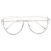 LovePunch Designer Inspired Flat Lens Clear Glasses