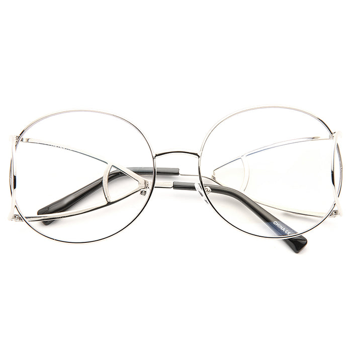 Jackson Designer Inspired Open Temple Round Clear Glasses