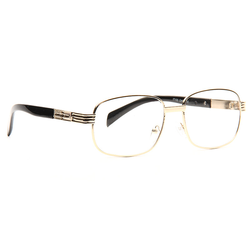Hatley Thin Metal Squared Clear Glasses
