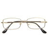 Donald Trump Style Metal Squared Clear Glasses