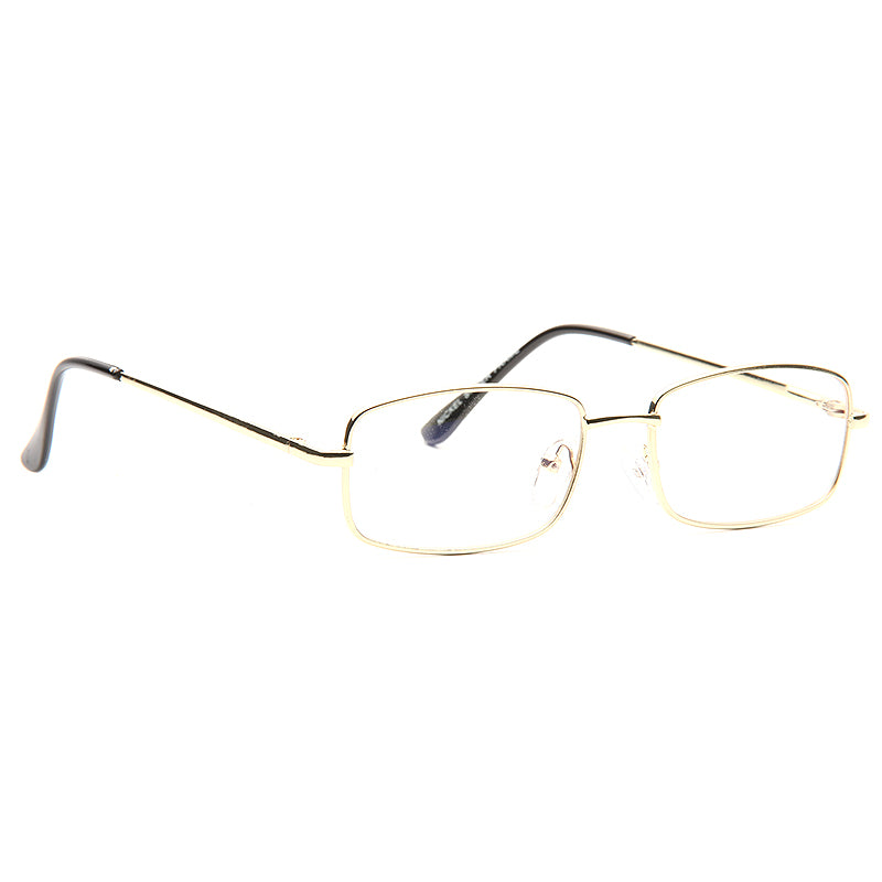 Nobleton Skinny Metal Squared Clear Glasses