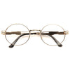 Westdale Thin Frame Embossed Metal Rounded Clear Glasses
