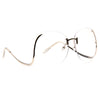 Flutter Oversized Rimless Low Temple Clear Glasses