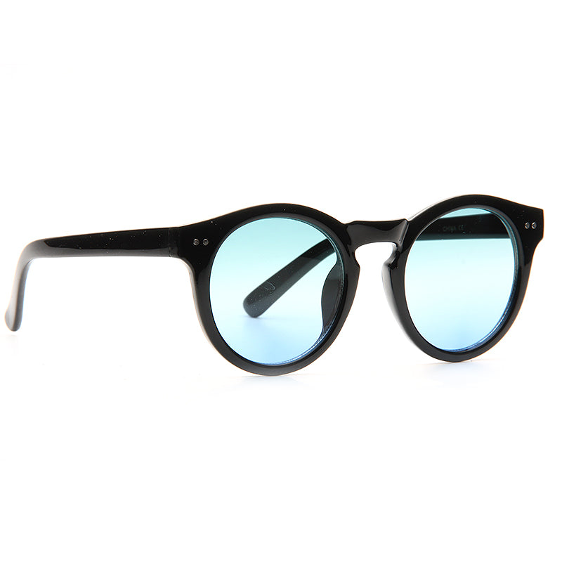 Turner Unisex Round Notched Bridge Sunglasses