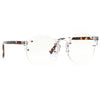 Winston Unisex Rimless Lightly Tinted Clear Frame  Round Sunglasses
