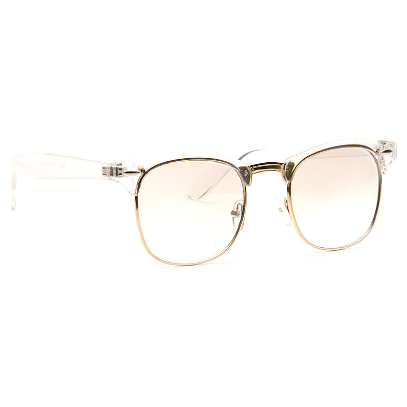 Peyton Unisex Lightly Tinted Clear Frame Clear Half-Frame Glasses
