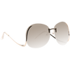 Flutter Oversized Rimless Low Temple Gradient Sunglasses