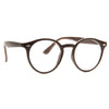 Grayson 2 Oversized Wood Grain Round Clear Glasses