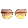 Lexi Designer Inspired Metal Flat Lens Cat Eye Sunglasses