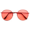 Brett Color Tinted Metal Round Sunglasses