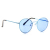 Miley Cyrus Style Color Tinted Metal Round Celebrity Sunglasses