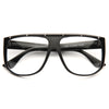Superstud Designer Inspired Flat Top Shield Clear Glasses