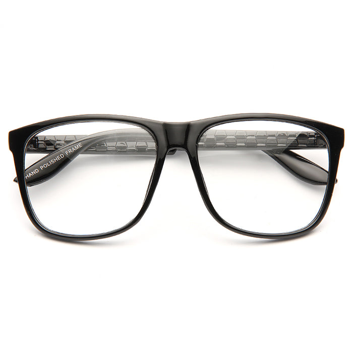 Gordon Unisex Clear Horn Rimmed Glasses
