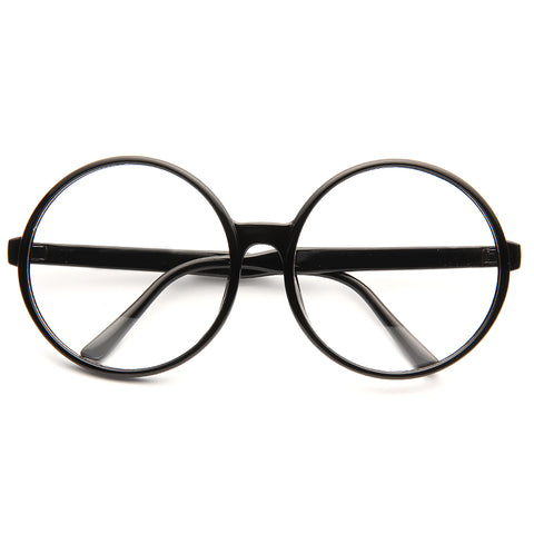 5d8613a295 Higbee Oversized Round Clear Glasses