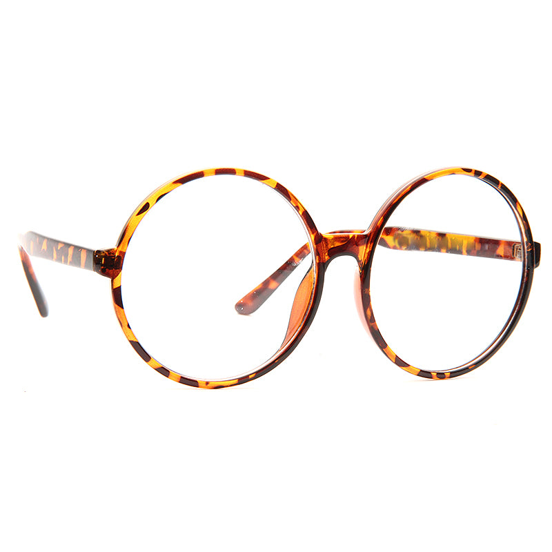Higbee Oversized Round Clear Glasses