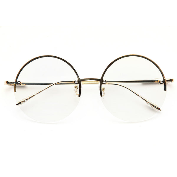 7b2623d619 Coral Rimless Flat Lens Metal Round Clear Glasses – CosmicEyewear