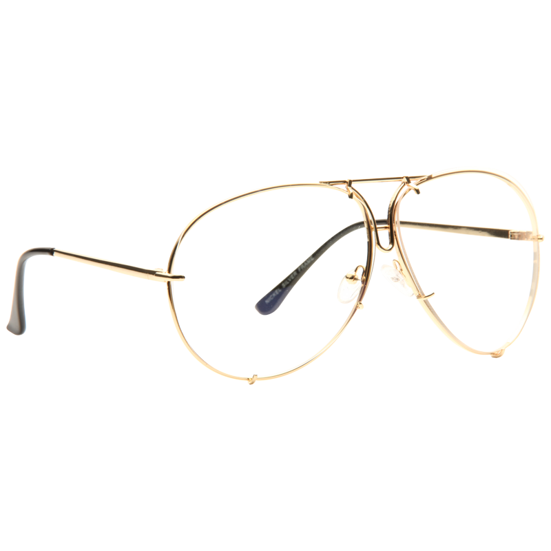 Porsche Designer Inspired Oversized Clear Glasses