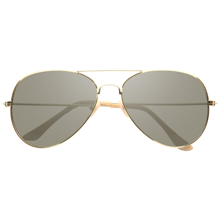 Classic 58mm Solid Lens Aviator Sunglasses