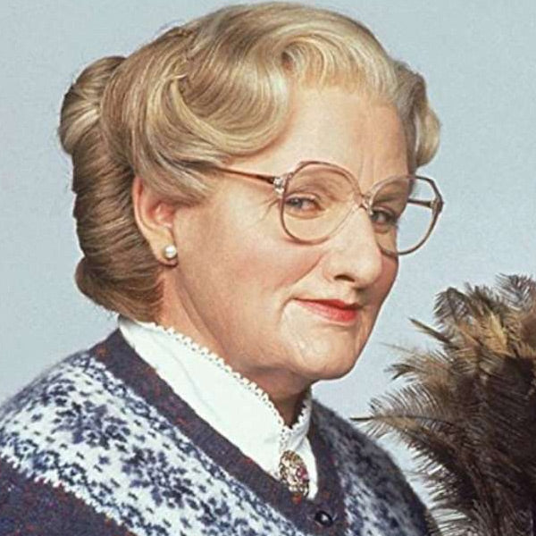 Mrs. Doubtfire Robin Williams Clear Glasses