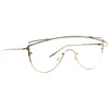 Zhora 2 Designer Inspired Flat Top Shield Clear Glasses