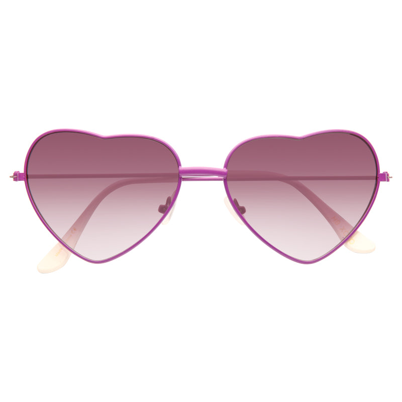 Cardi B Style Metal Frame Heart Gradient Celebrity Sunglasses