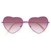 Paris Hilton Style Metal Frame Heart Gradient Celebrity Sunglasses