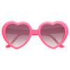 Emmy Rossum Style Plastic Heart Celebrity Sunglasses