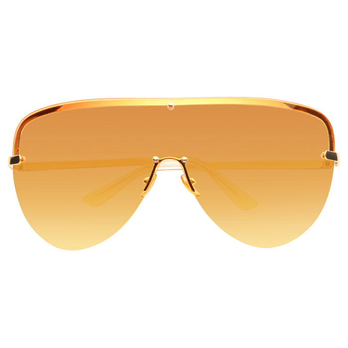 Reeves Oversized Rimless Split Tint Shield Aviator Sunglasses