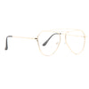 Bellair Flat Lens Clear Aviator Glasses