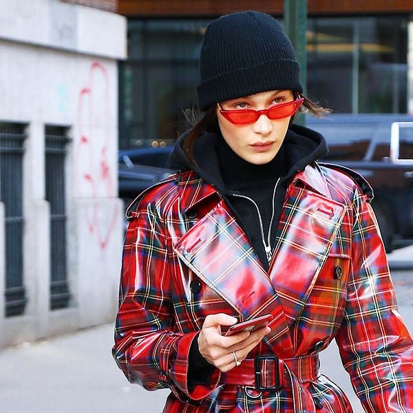 Bella Hadid Style Cat Eye Color Tint Celebrity Sunglasses
