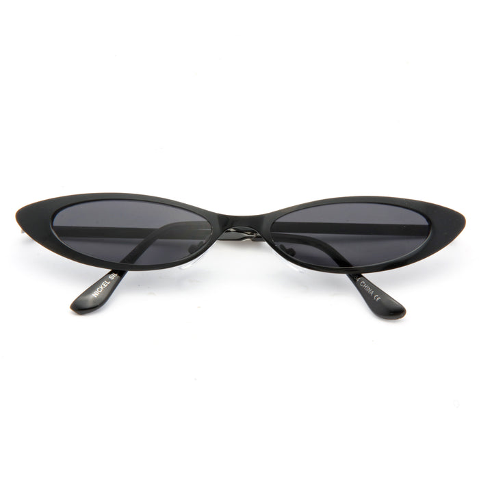 Micco Metal Extreme Oval Cat Eye Sunglasses