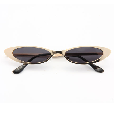 38015dc318 Micco 90s Metal Extreme Oval Cat Eye Sunglasses