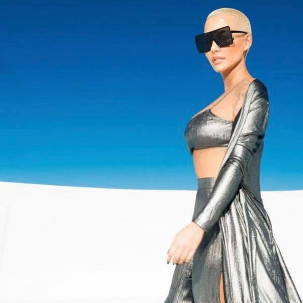 Amber Rose Style Flat Top Celebrity Sunglasses