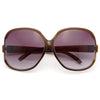 Elia 2 Oversized Gold Accent Sunglasses