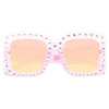 Harry Styles Style Oversized Rhinestone Celebrity Sunglasses