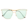 Gentle Two Designer Inspired Semi-Rimless Horn Rimmed Sunglasses