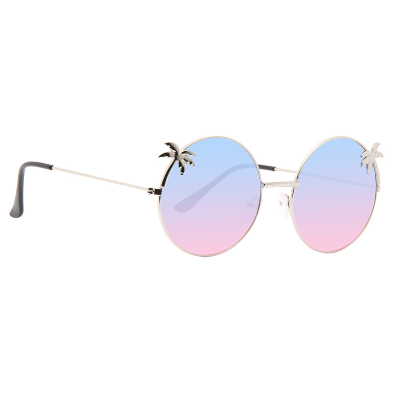 Palm Split Tint Round Sunglasses