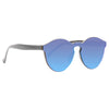 Leonard Designer Inspired Rimless Color Mirror Horn Rimmed Sunglasses