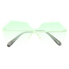 Jensen Rimless Heptagon Color Tint Gradient Aviator Sunglasses