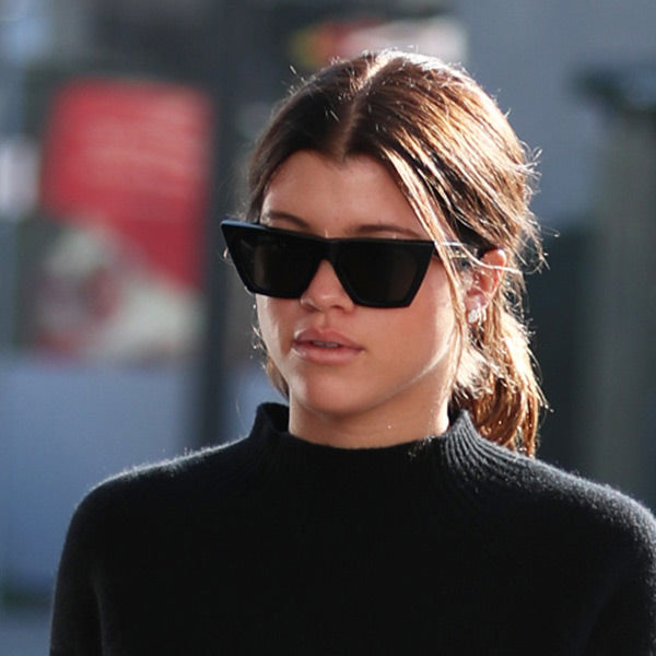 Sofia Richie Style Sharp Point Cat Eye Celebrity Sunglasses