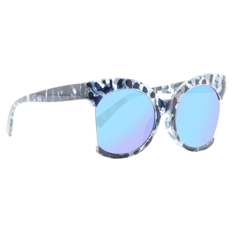Selden Oversized Side Cut Frame Round Sunglasses