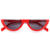 Tira Half Frame 90s Cat Eye Sunglasses
