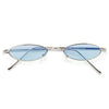 Judson Slim Metal Color Tint 90s Oval Sunglasses