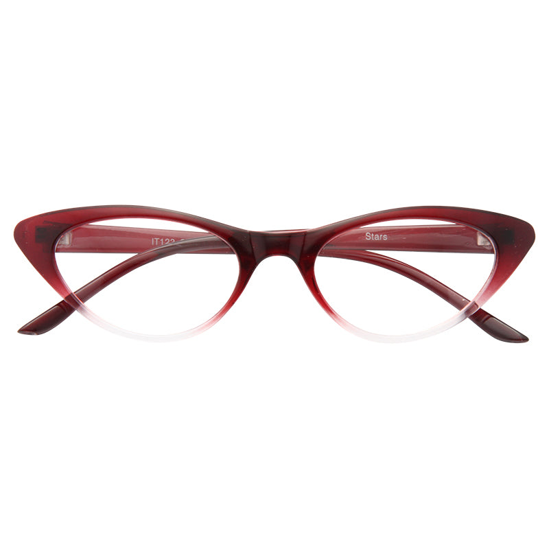 Valencia Gradient Frame Cat Eye Clear Glasses