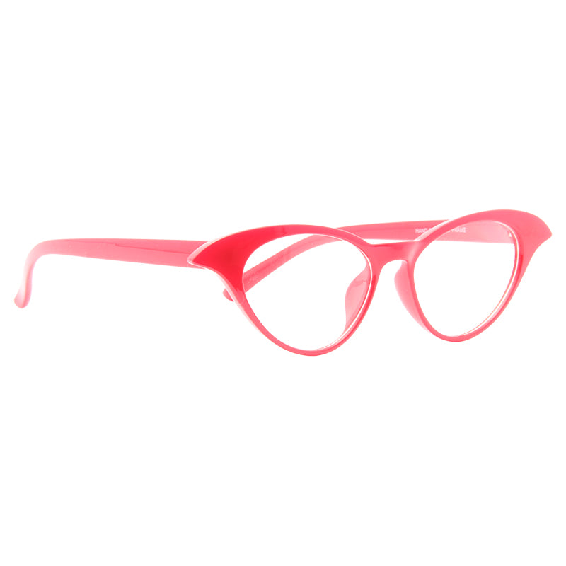 Kaylor Rounded Point Cat Eye Clear Glasses