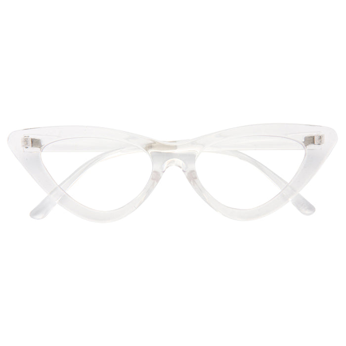 Lolita Designer Inspired 90s Cat Eye Clear Frame Clear Glasses