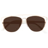 Technologic Designer Inspired Color Mirror Horn Rimmed Sunglasses